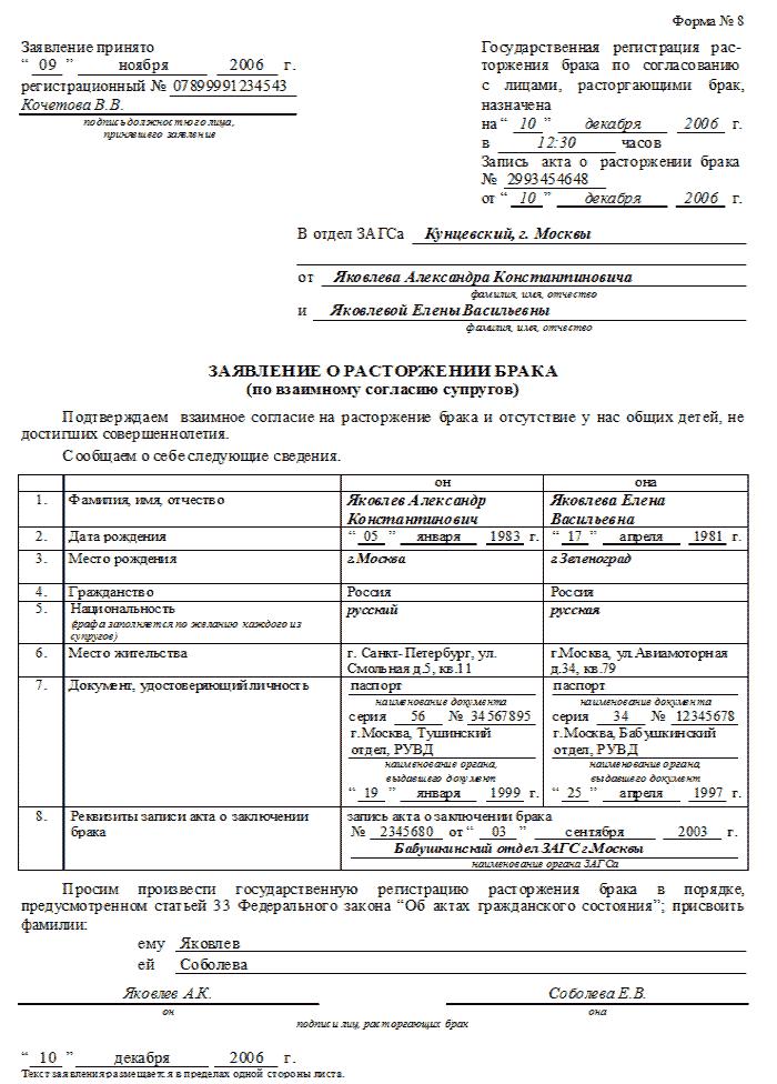 Перечень документов для развода в ЗАГСе и в суде