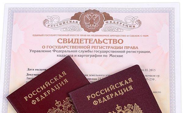 Свидетельство о регистрации и два паспорта