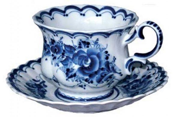 Чайный набор с росписью Гжель
