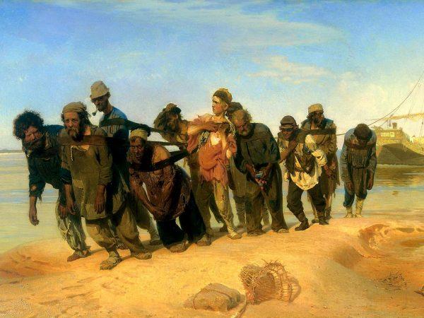 Картина И. Репина «Бурлаки на Волге»