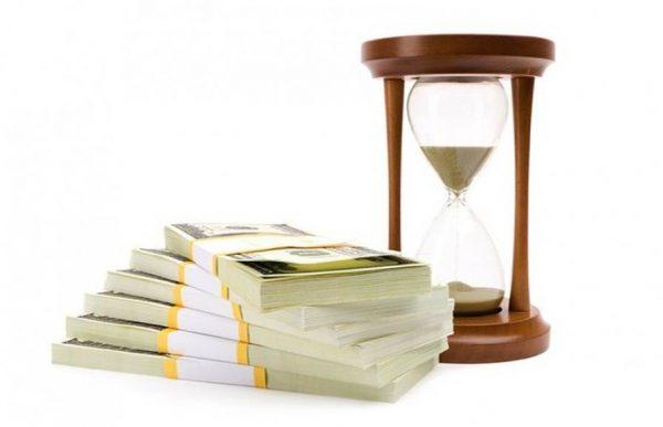 Песочные часы и деньги