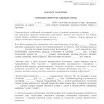 Исковое заявление (лист 1)