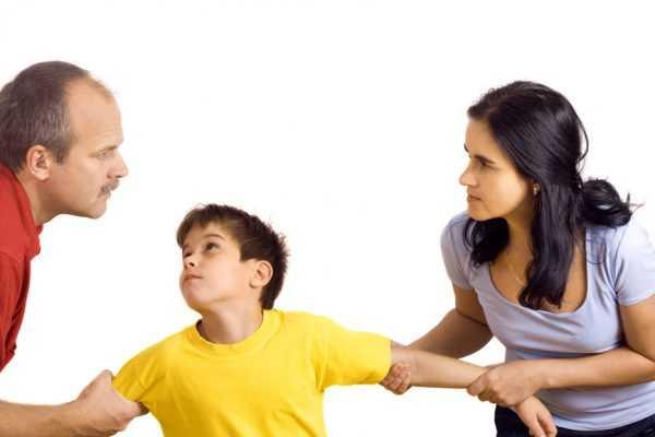 Конфликт мужа и жены из-за ребёнка