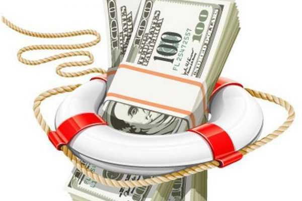 Деньги и спасательный круг