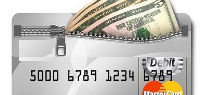 Снятие наличных со счёта в банке