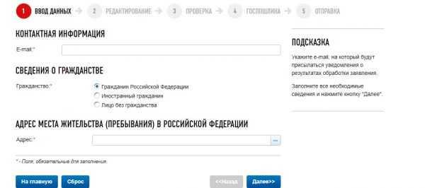 Скрин сайта ФНС РФ. онлайн-регистрация ИП, шаг № 5