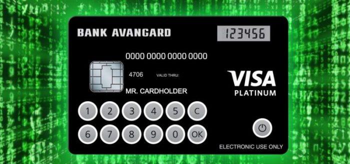 Пластиковая карта банка Авангард