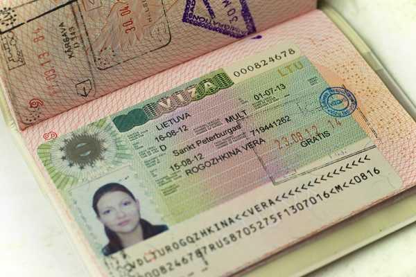 Национальная долгосрочная виза в паспорте
