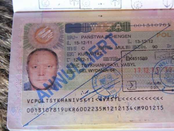 Аннулированная виза
