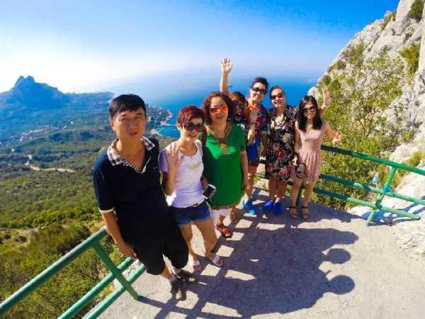 Туристы в Китае