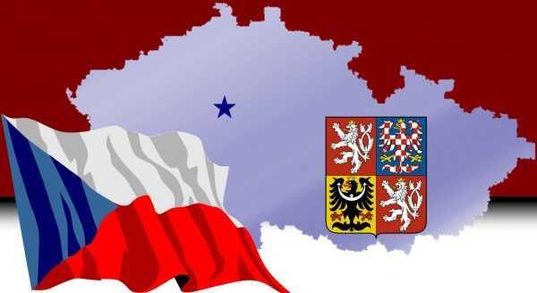 Флаг, герб и контуры Чехии