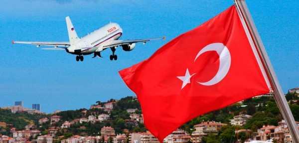 Самолёт и флаг Турции