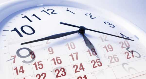 Календарь и циферблат часов