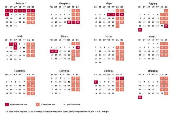 Календарь праздников 2018
