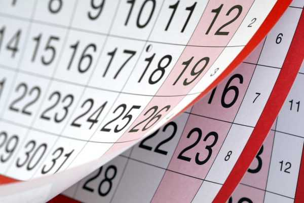 Календарь крупным планом