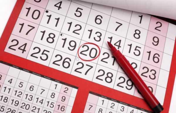 Календарь с отмеченной датой и карандаш