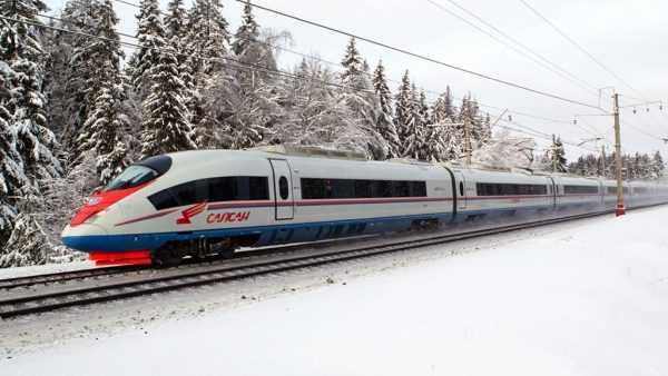 Поезд «Сапсан» в пути