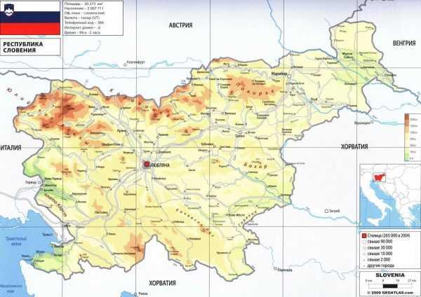 Карта Словении