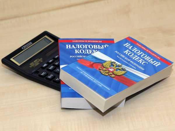 Брошюры с текстом Налогового кодекса РФ лежат на калькуляторе
