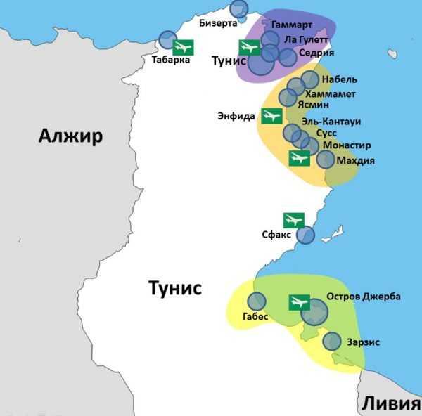 Карта Туниса