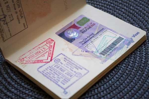 Виза по прибытии в паспорте