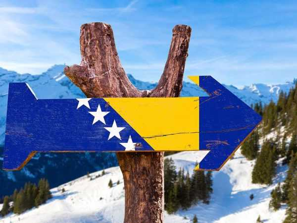Стрелка в цветах боснийского флага