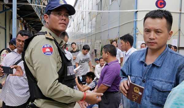Задержание нелегальных работников полицией Камбоджи