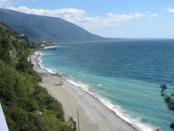 Черноморское побережье в Абхазии