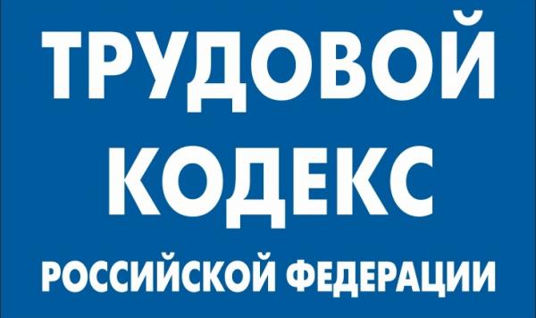 Часть обложки Трудового кодекса РФ
