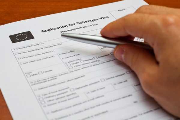 Анкета на получение шенгенской визы