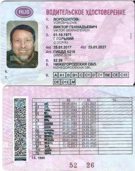 Новое водительское удостоверение в России