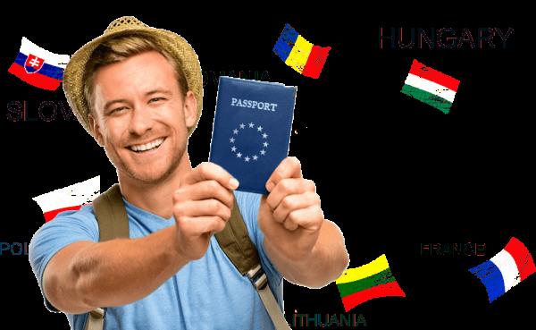 Человек с паспортом ЕС