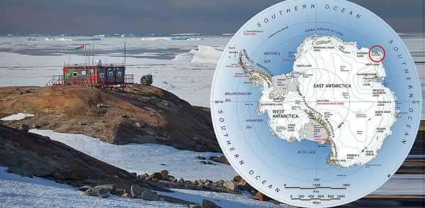 Научная станция в Антарктике