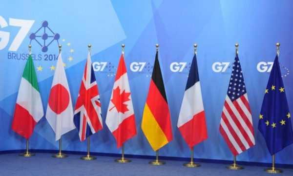 Флаги стран G7 и ЕС