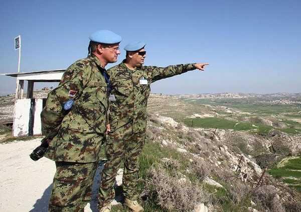 Офицеры войск ООН на Кипре