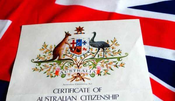 Сертификат о присвоении австралийского гражданства