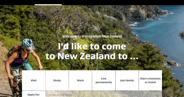 Сайт иммиграционной службы Новой Зеландии