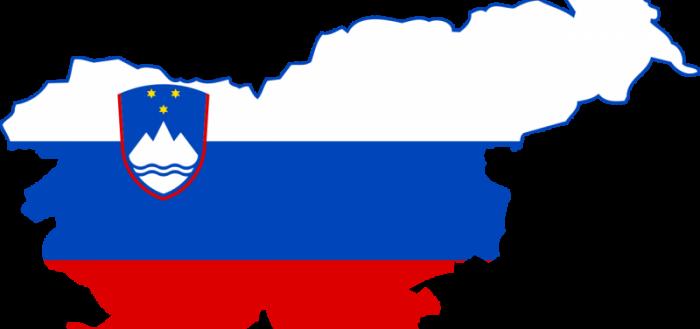 Карта-флаг Словении
