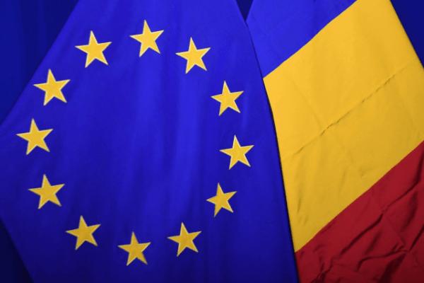 Флаги Румынии и ЕС