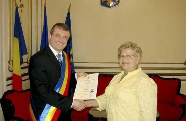 Вручение сертификата о румынском гражданстве