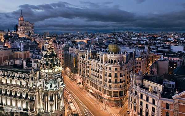 Панорама вечернего Мадрида