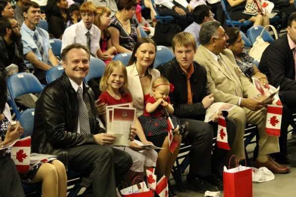 Церемония вступление в гражданство Канады