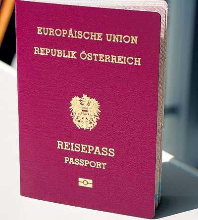Паспорт гражданина Австрии