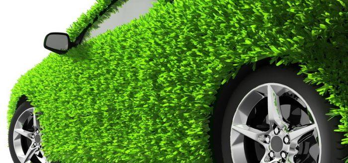 Зелёный автомобиль