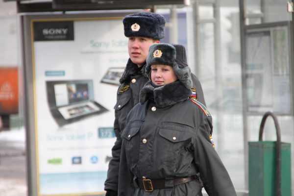 Сотрудники полиции РФ