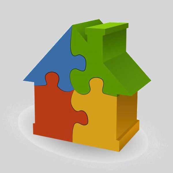 Игрушечный домик-мозайка
