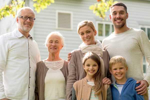 семья из трёх поколений
