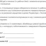 Образец соглашения о разделе имущества при разводе, ч. 3