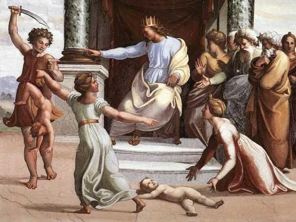 Царь Соломон разрешает спор о материнстве